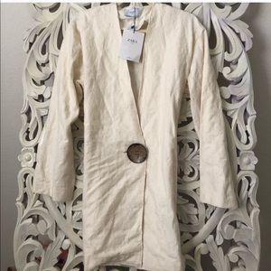 Zara linen tunic large button